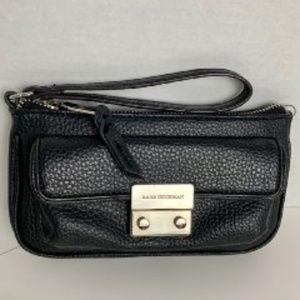 Dana Buchman, black wristlet, purse & wallet combo